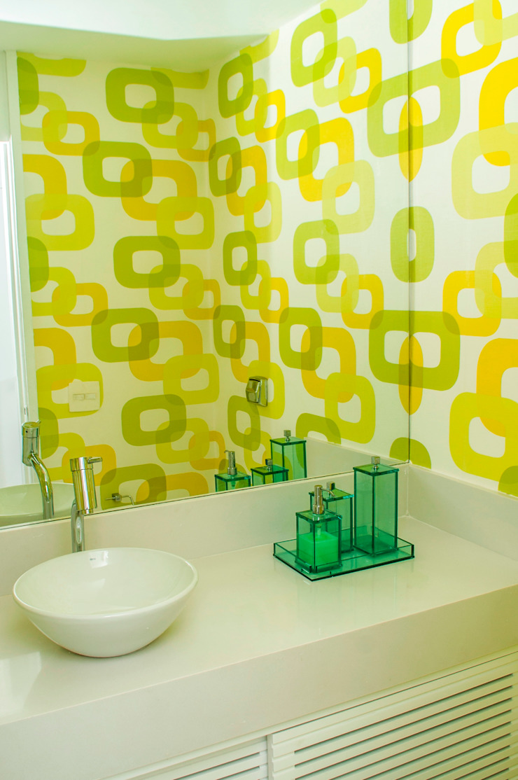 LAVABO MODERNO Banheiros modernos por AVNER POSNER INTERIORES Moderno