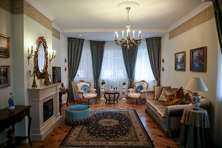 Classic style living room by Designer Olga Aysina Classic
