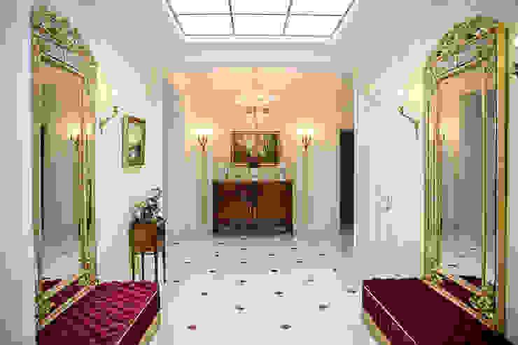 Дворянский особняк Коридор, прихожая и лестница в классическом стиле от Sian Kitchener homify Классический