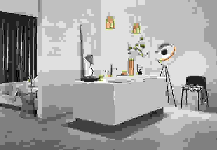 NEST Casas de banho ecléticas por Love Tiles Industrial