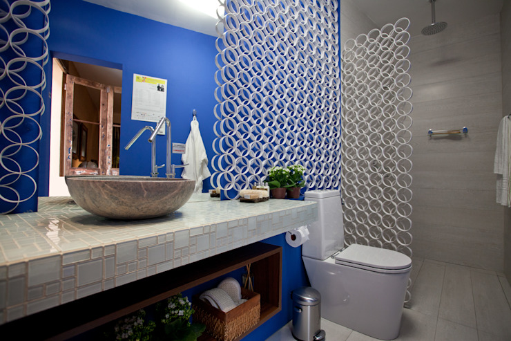 Baños modernos de Anna de Matos - Designer de Ambientes e Paisagismo Moderno