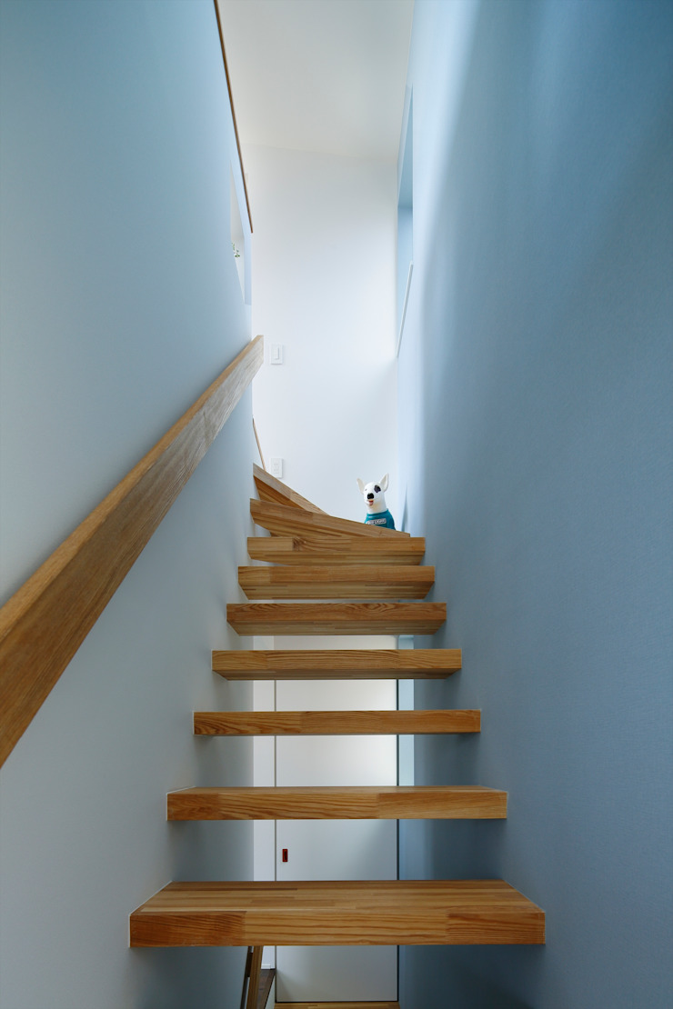 高津の家 向山建築設計事務所 モダンスタイルの 玄関&廊下&階段
