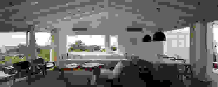 Modern living room by PLANTA / Ana Rascovsky Arqs. Modern