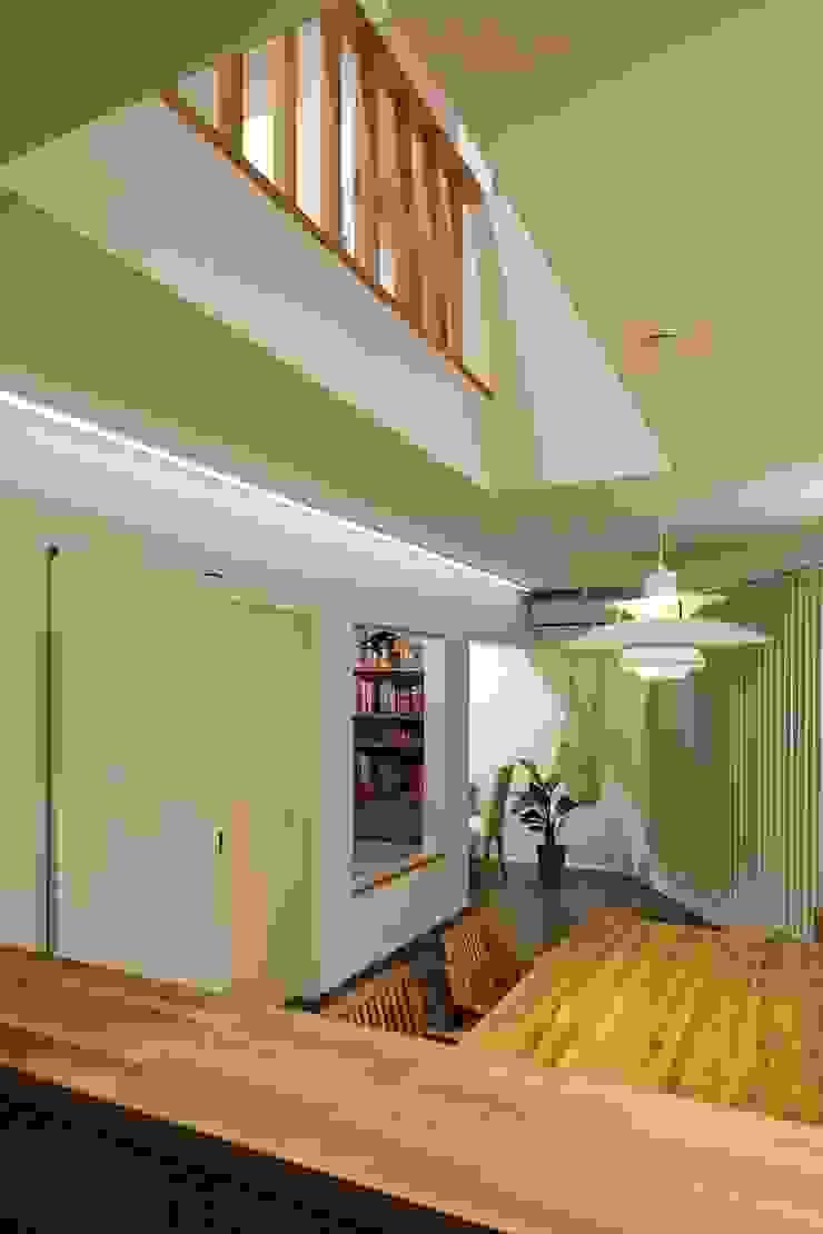 高津の家 向山建築設計事務所 モダンデザインの リビング