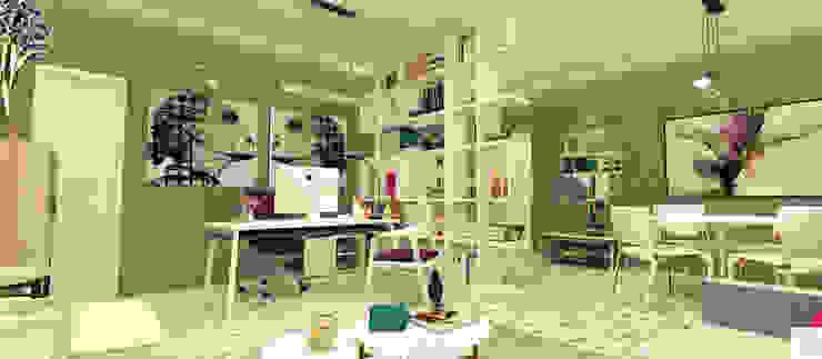 O Escritório da Empresária Edifícios comerciais modernos por Rangel & Bonicelli Design de Interiores Bioenergético Moderno