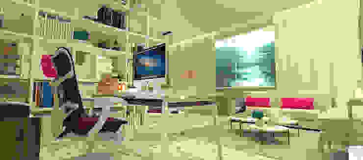 O Escritório da Empresária Espaços comerciais modernos por Rangel & Bonicelli Design de Interiores Bioenergético Moderno