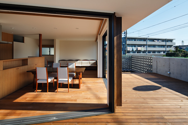 向山建築設計事務所 Moderne tuinen