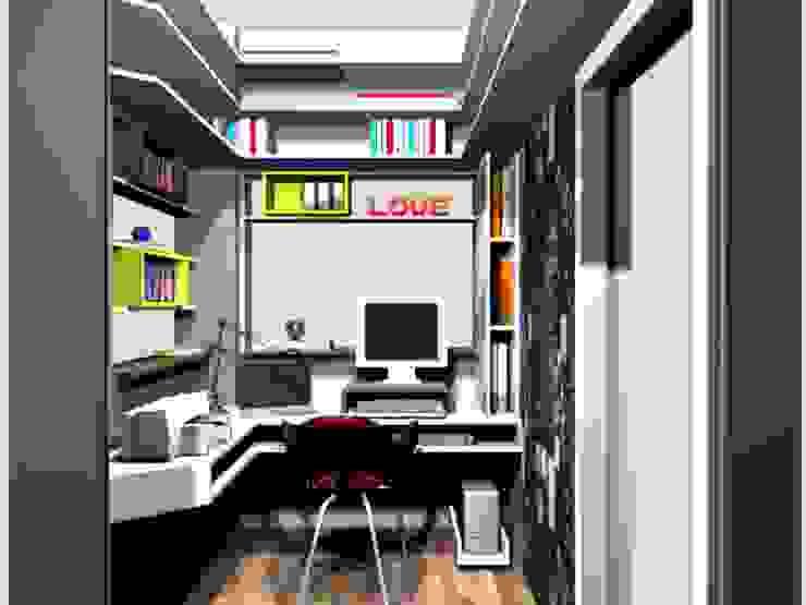 pequeno escritório para pesquisadora por Margareth Salles Moderno