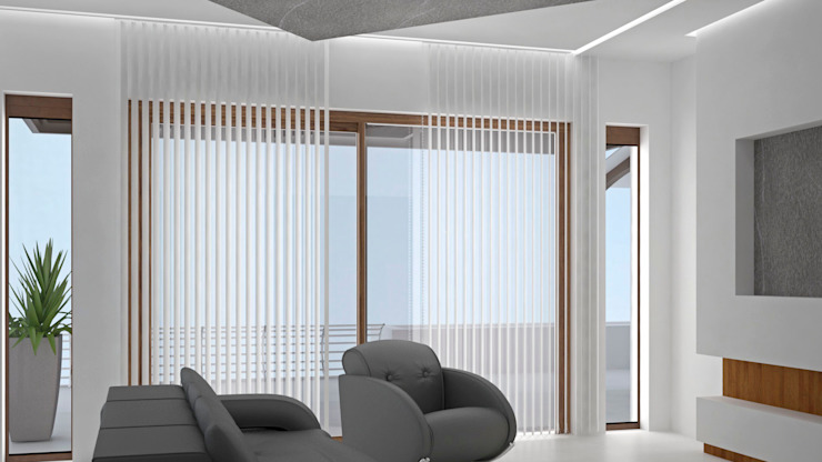 CASA SAAVEDRA Salones modernos de Design Arquitectos Moderno