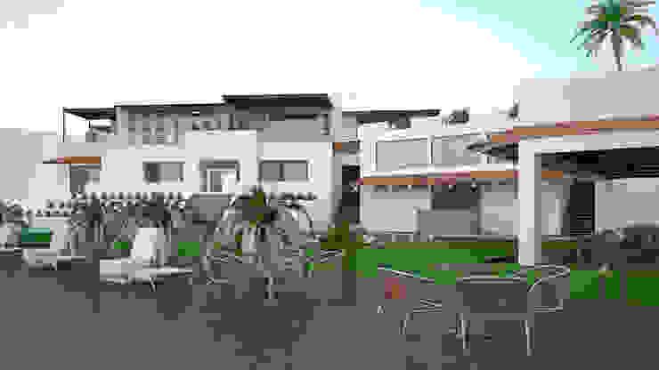 CASA SAAVEDRA Jardines modernos de Design Arquitectos Moderno Madera Acabado en madera