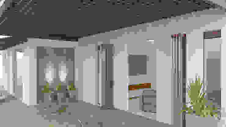 CASA SAAVEDRA Balcones y terrazas minimalistas de Design Arquitectos Minimalista Madera Acabado en madera