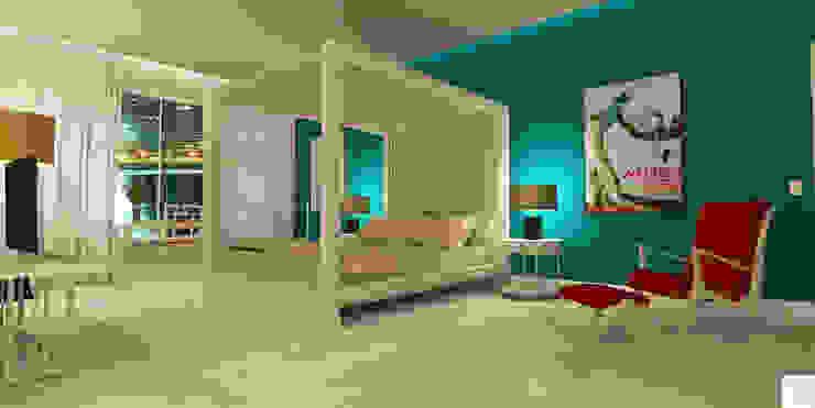Suíte do hotel de praia: Hotéis  por Rangel & Bonicelli Design de Interiores Bioenergético,Moderno