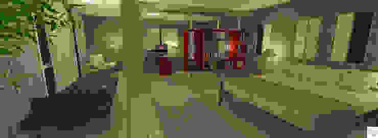 Suíte do casal por Rangel & Bonicelli Design de Interiores Bioenergético Moderno