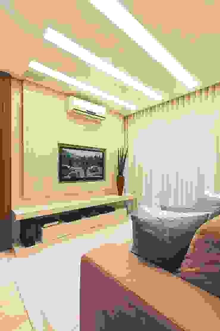 Rolim de Moura Arquitetura e Interiores Modern living room Blue