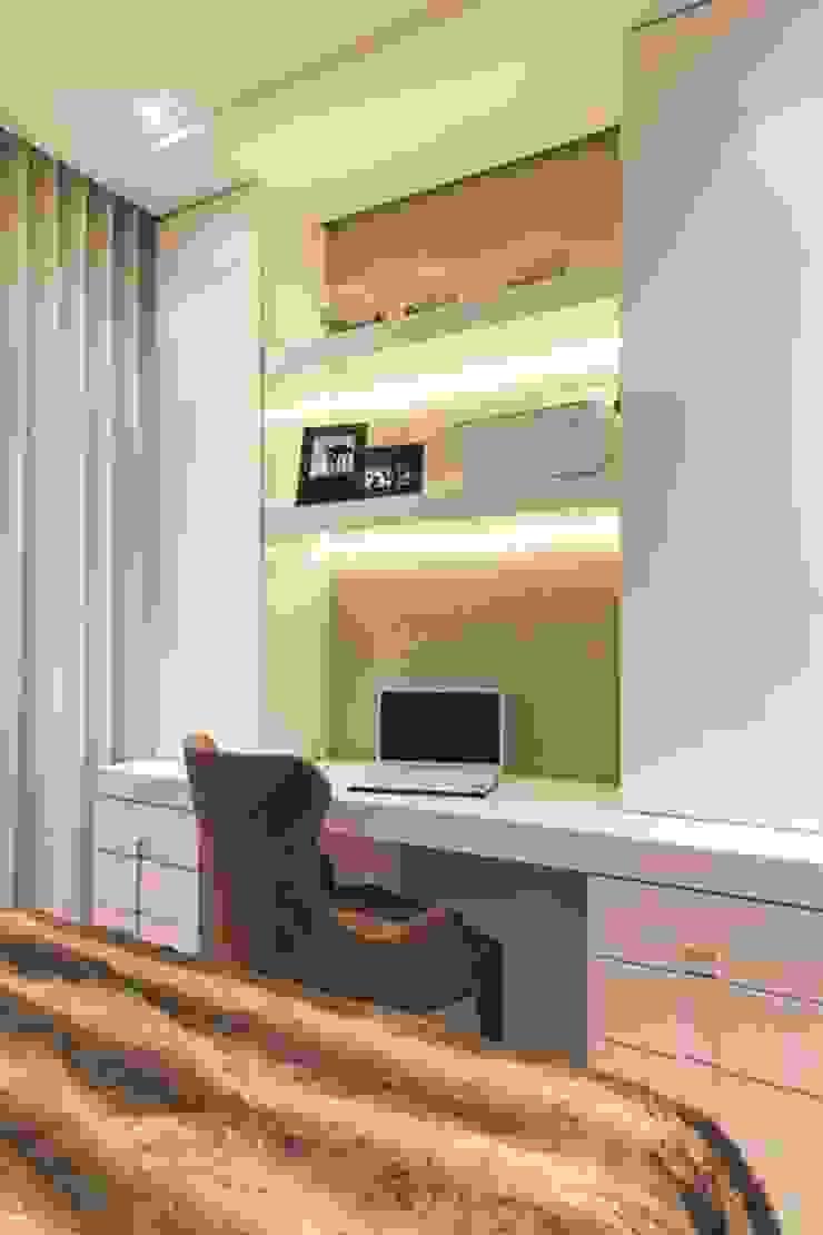Rolim de Moura Arquitetura e Interiores Modern style bedroom Beige