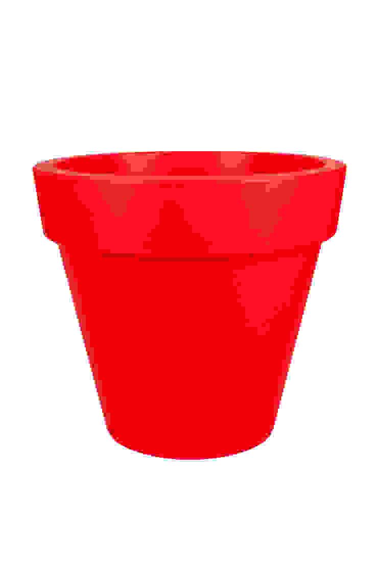 PURE ROUND 40 HAPPY RED de Elho México Minimalista Plástico