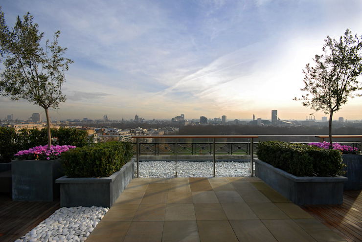 A West London Roof Garden by Bowles & Wyer Modern