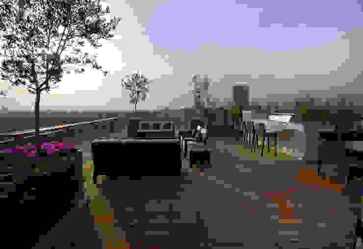 A West London Roof Garden Modern Balkon, Veranda & Teras Bowles & Wyer Modern