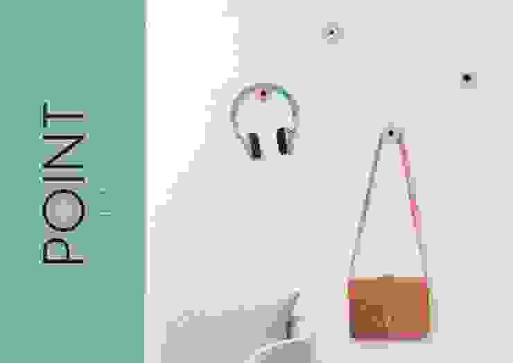 POINT Wall Hangers por Suricata Design Studio Minimalista Cortiça