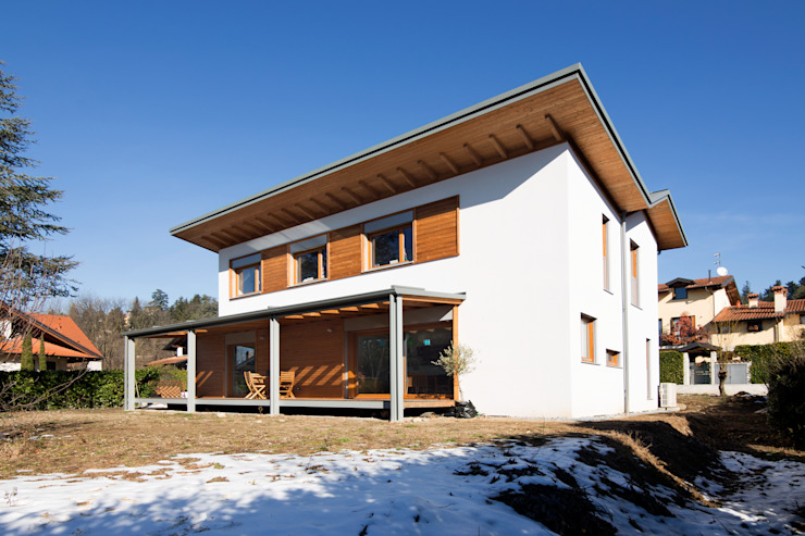 Modern Houses by Novello Case in Legno Modern Wood Wood effect