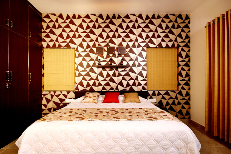 Sanskriti Architects Eclectic style bedroom