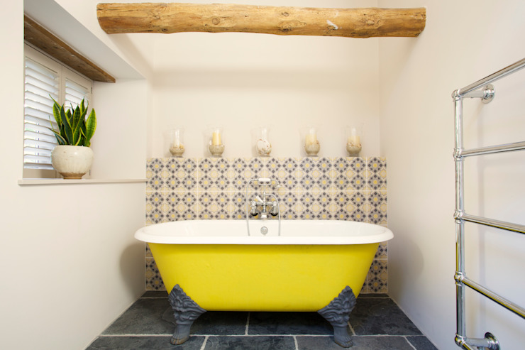 Dartmoor Farmstead Salle de bain rurale par Woodford Architecture and Interiors Rural Fer / Acier