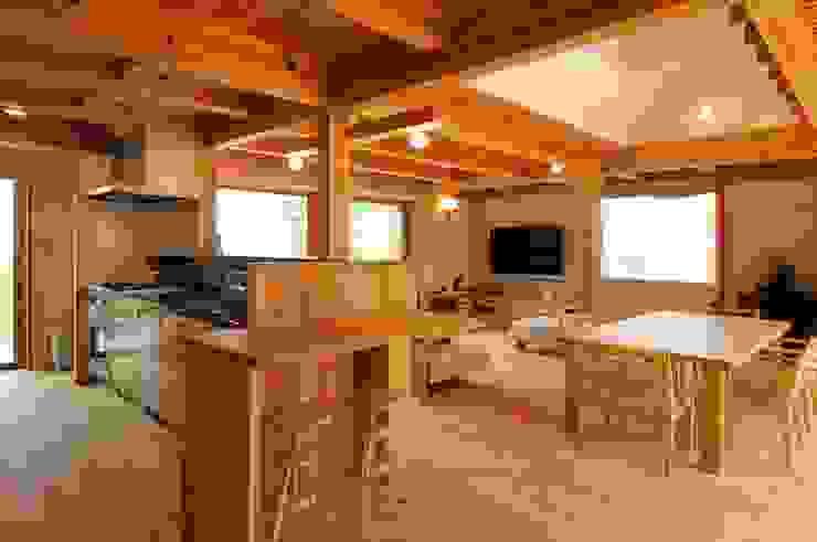 Cocinas de estilo asiático de shu建築設計事務所 Asiático Madera Acabado en madera