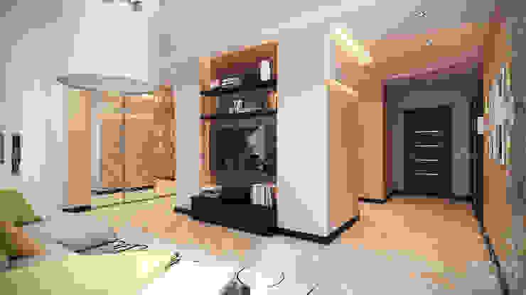 Проект 012: дизайн современной квартиры Гостиная в стиле минимализм от студия визуализации и дизайна интерьера '3dm2' Минимализм