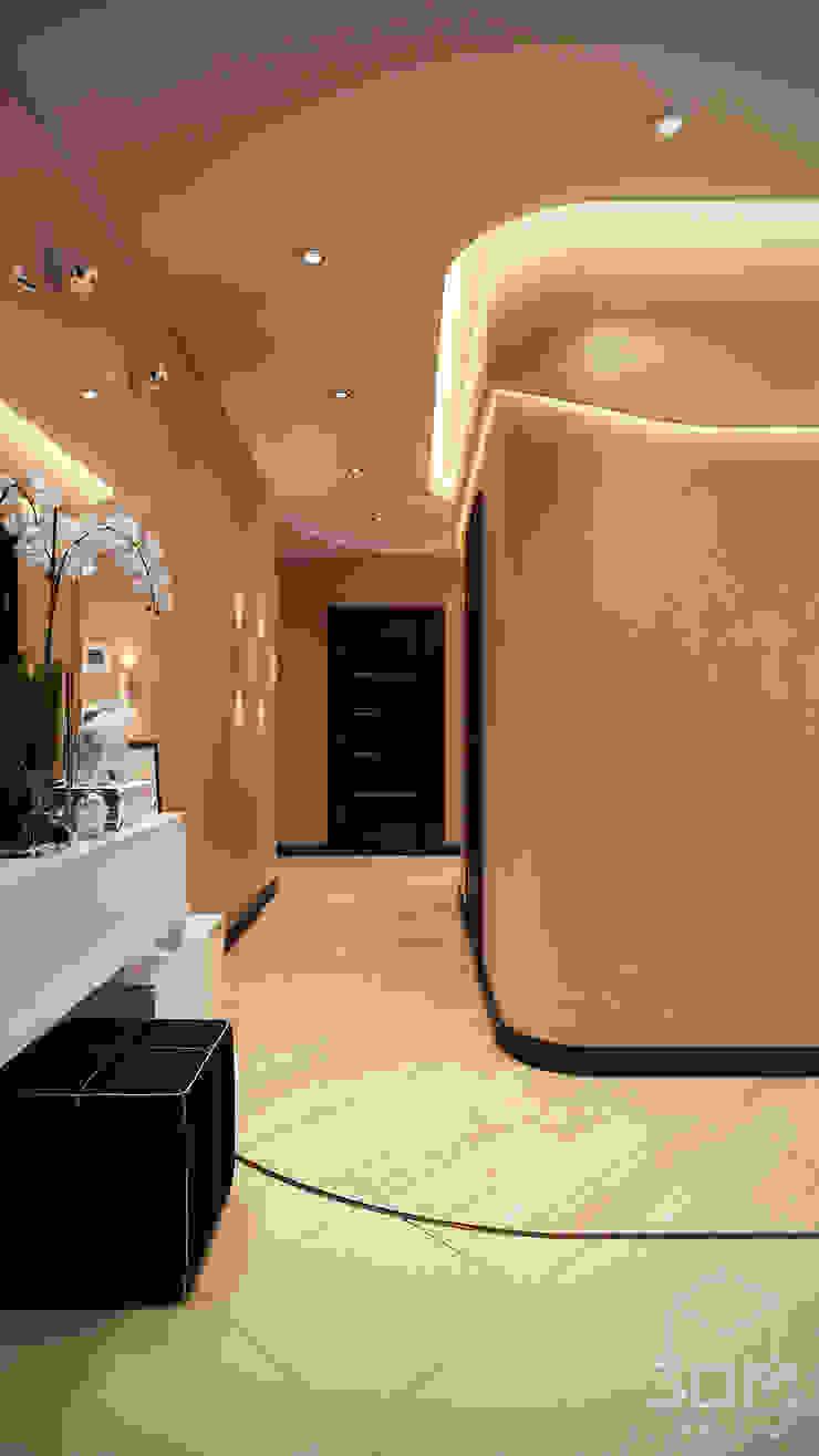 Minimalist corridor, hallway & stairs by студия визуализации и дизайна интерьера '3dm2' Minimalist