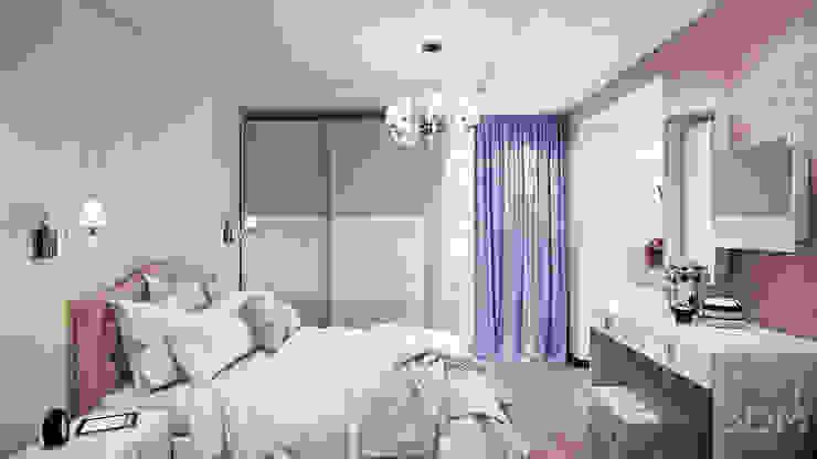 Проект 012: дизайн современной квартиры Спальня в стиле минимализм от студия визуализации и дизайна интерьера '3dm2' Минимализм