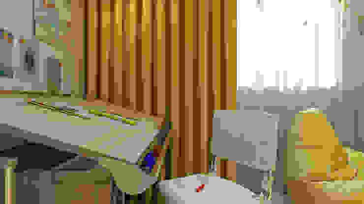 Проект 012: дизайн современной квартиры Детская комнатa в стиле минимализм от студия визуализации и дизайна интерьера '3dm2' Минимализм