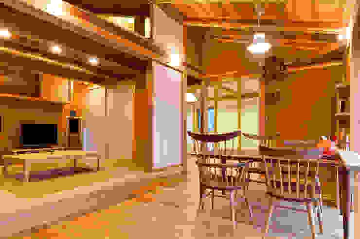 Asyatik Yemek Odası shu建築設計事務所 Asyatik Ahşap Ahşap rengi
