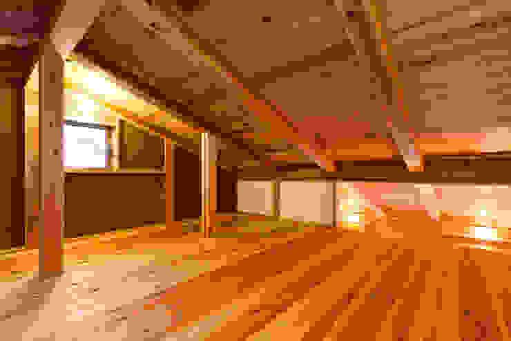 shu建築設計事務所 Ruang Media Modern Kayu Wood effect