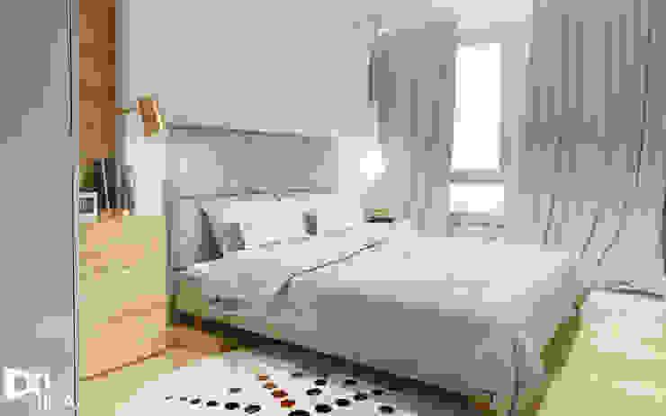 Projekt sypialni Nowoczesna sypialnia od TIKA DESIGN Nowoczesny