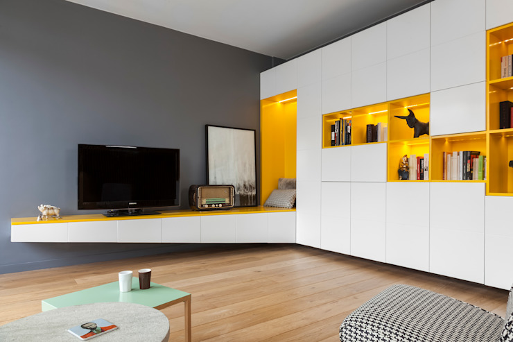 Agence Glenn Medioni Salas de estar modernas