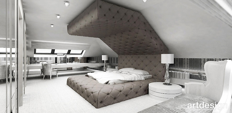 Modern style bedroom by ARTDESIGN architektura wnętrz Modern