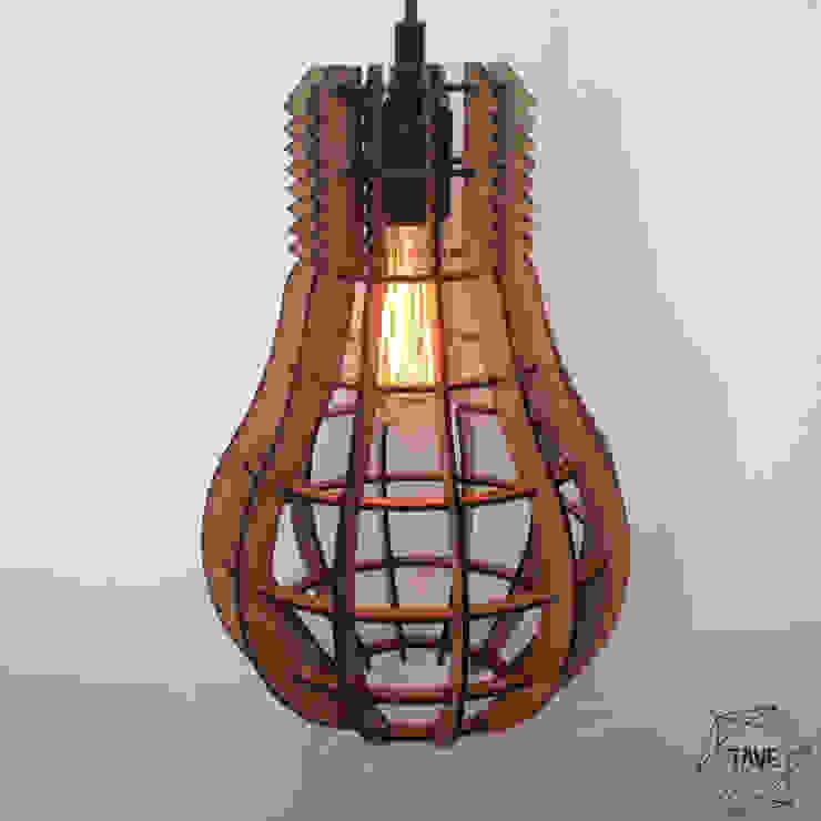 Foco Lamp Natural de Taller Veinte Moderno Derivados de madera Transparente