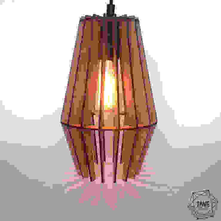 TAVE Long de Taller Veinte Moderno Derivados de madera Transparente