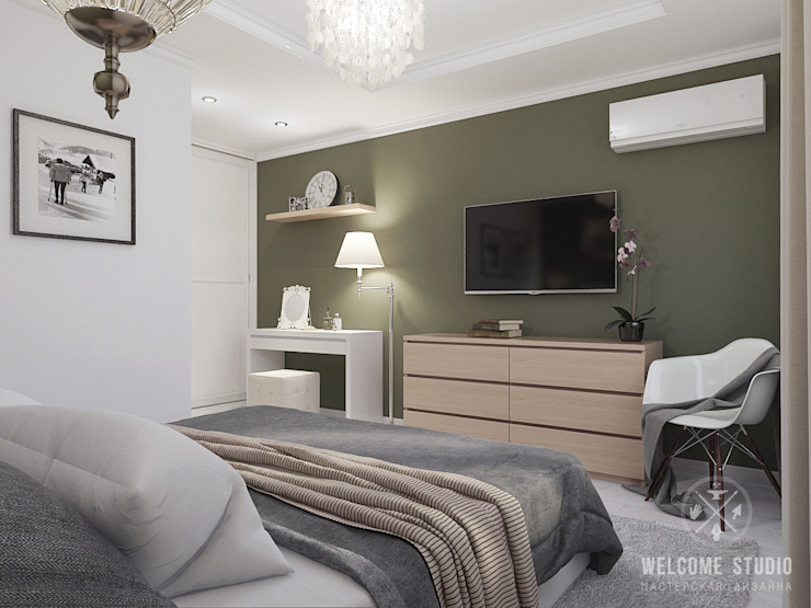 Minimalist bedroom by Мастерская дизайна Welcome Studio Minimalist