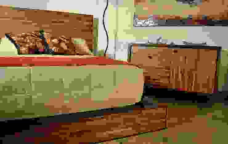 Cama Matrimonila Reciclato nogal de Segusino Muebles Condesa Moderno Madera Acabado en madera