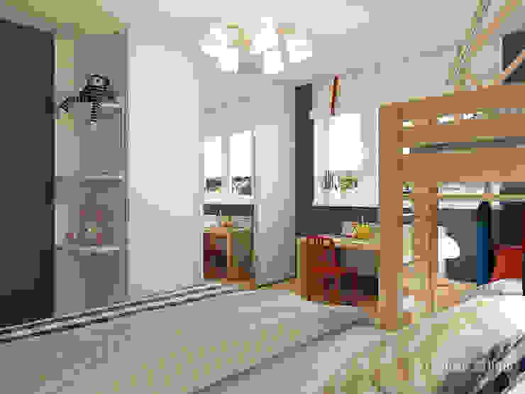 Детская для двоих. Дом в г. Володарск Детские комната в эклектичном стиле от Мастерская дизайна Welcome Studio Эклектичный