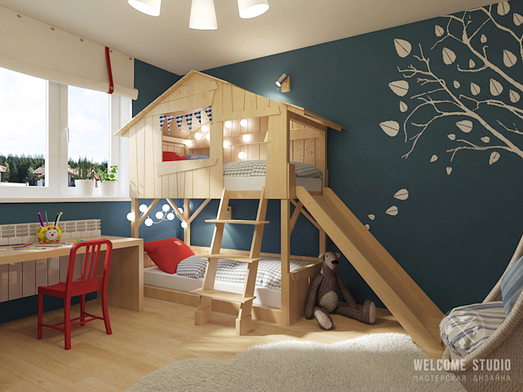 Nursery/kid's room by Мастерская дизайна Welcome Studio,