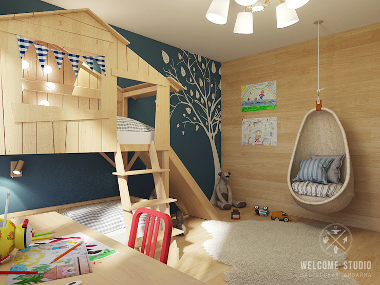 Eclectic style nursery/kids room by Мастерская дизайна Welcome Studio Eclectic