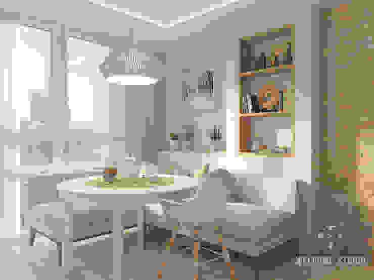 Трёхкомнатная квартира «Fresh Color» в г. Нижний Новгород Кухня в скандинавском стиле от Мастерская дизайна Welcome Studio Скандинавский