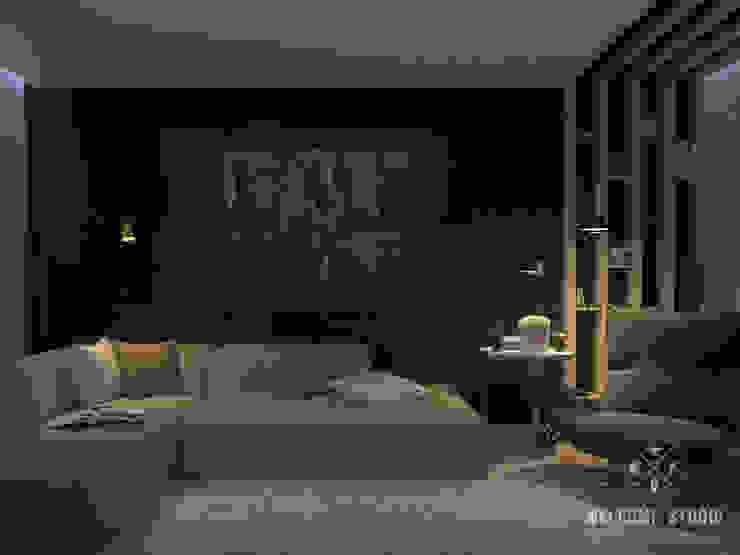Трёхкомнатная квартира «Fresh Color» в г. Нижний Новгород Гостиная в скандинавском стиле от Мастерская дизайна Welcome Studio Скандинавский