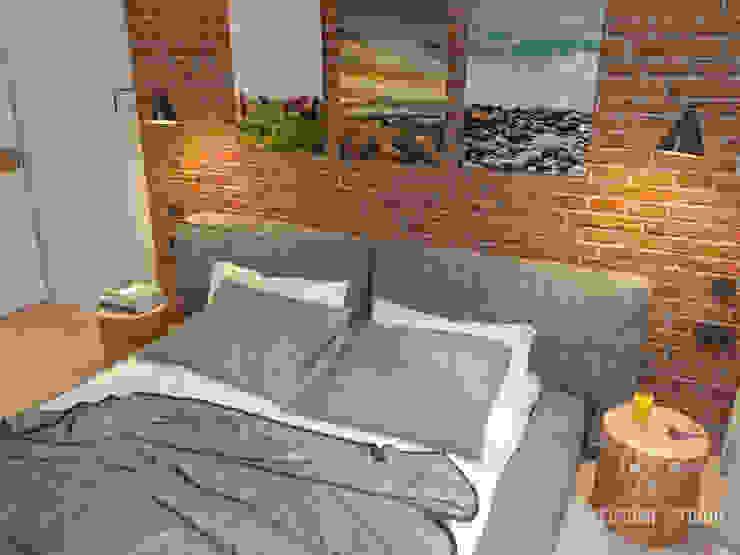 Трёхкомнатная квартира «Fresh Color» в г. Нижний Новгород Спальня в скандинавском стиле от Мастерская дизайна Welcome Studio Скандинавский