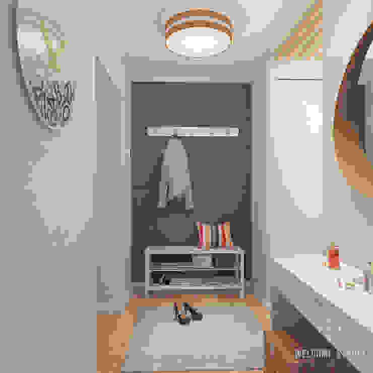 Трёхкомнатная квартира «Fresh Color» в г. Нижний Новгород Коридор, прихожая и лестница в скандинавском стиле от Мастерская дизайна Welcome Studio Скандинавский