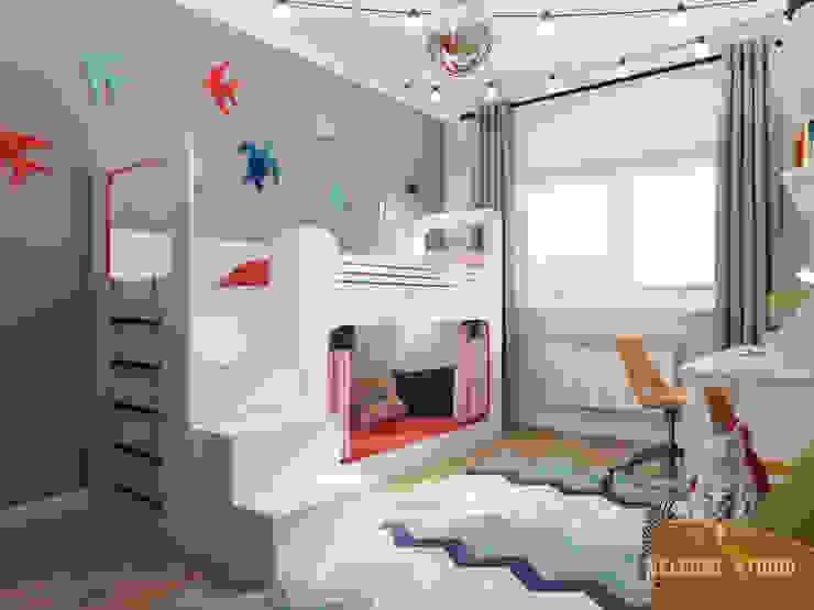 Четырёхкомнатная квартира в Москве «Scandinavian Breath» Детская комнатa в скандинавском стиле от Мастерская дизайна Welcome Studio Скандинавский