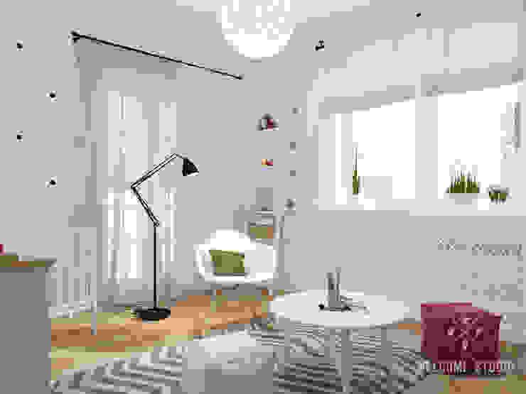 Dormitorios infantiles de estilo  por Мастерская дизайна Welcome Studio , Escandinavo