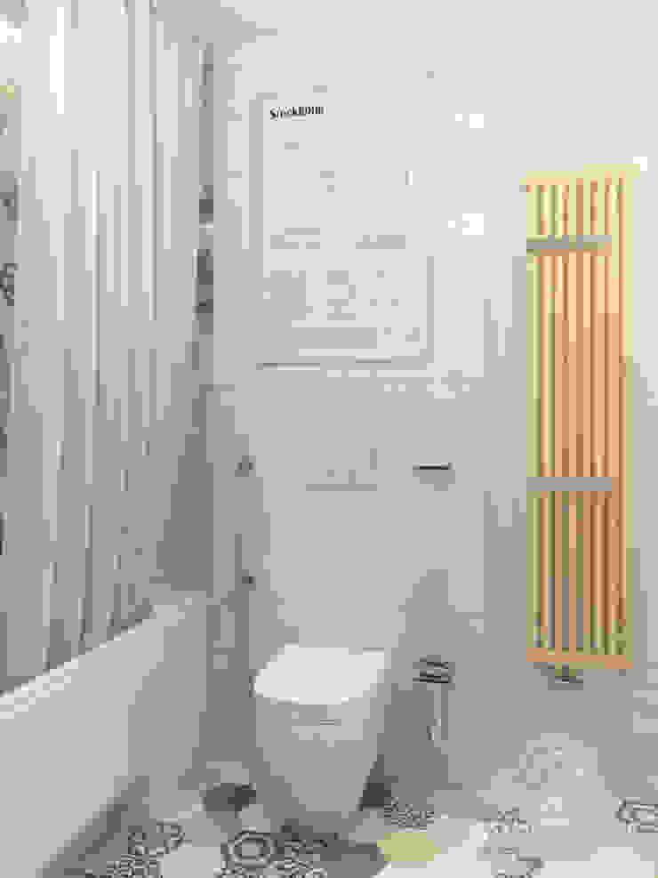 Четырёхкомнатная квартира в Москве «Scandinavian Breath» Ванная комната в скандинавском стиле от Мастерская дизайна Welcome Studio Скандинавский